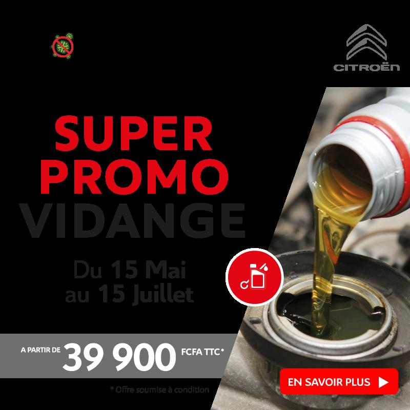 Promo Vidange à partir de 39.900 FCFA | Citroën Côte d'Ivoire